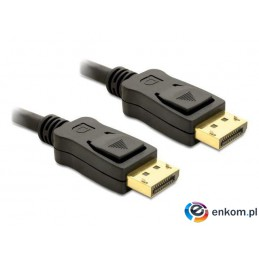 Kabel Delock DisplayPort M/M 5m gold