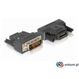 Adapter Delock HDMI(F) -  DVI-D(M) black