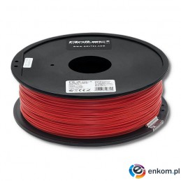 Filament Qoltec do druku 3D | ABS PRO | 1,75mm | 1kg | Red