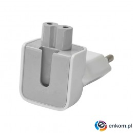 Adapter AC Akyga AK-AD-60 EU CEE 7/16 do C7 biały