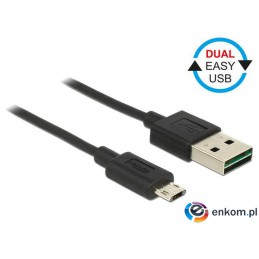 Kabel USB Delock micro AM-BM USB 2.0 Easy-USB 2m