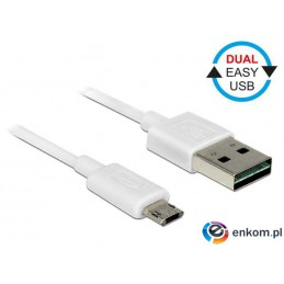 Kabel USB Delock micro AM-BM USB 2.0 Dual Easy-USB 1m