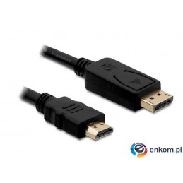 Kabel Delock DisplayPort M- HDMI M 5m gold
