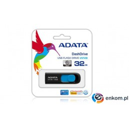 ADATA DashDrive UV128 128GB USB3.0 Black-Blue