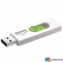 ADATA FLASHDRIVE UV320 128GB USB3.1 White-Green