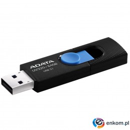 ADATA FLASHDRIVE UV320 64GB USB3.1 Black-Blue