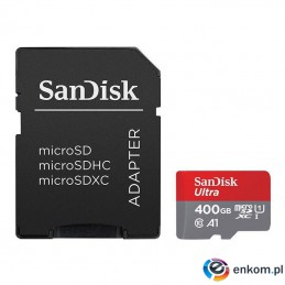 Karta pamięci MicroSDHC SanDisk ULTRA ANDROID 400GB 120MB/s UHS-I Class 10 + adapter