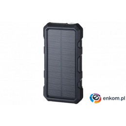 POWERNEED POWER BANK Z PANELEM SOLARNYM 20000MAH LI-POLY PV 1,5W QI 2A USB QC 3.0 LED POWER DELIVERY CZARNY S20000B