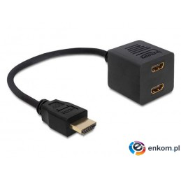 Adapter Delock HDMI(M)   HDMI(F) X2 high speed Ethernet