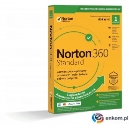 Norton 360 Standard 1D/12M BOX - WYMAGA KARTY
