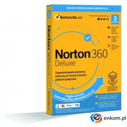 Norton 360 Deluxe 3D/12M BOX - WYMAGA KARTY