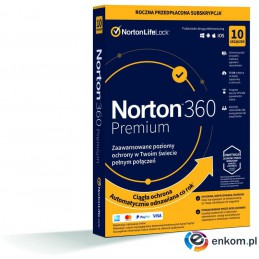 Norton 360 Premium 10D/12M BOX - WYMAGA KARTY