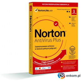 Norton Antivirus Plus 1D/12M BOX - WYMAGA KARTY