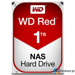 "Dysk HDD WD Red Plus WD10EFRX (1 TB   3.5""  64 MB  5400 obr/min)"
