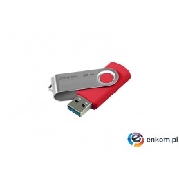 Pendrive GoodRam Twister UTS3-0640R0R11 (64GB  USB 3.0  kolor czerwony)