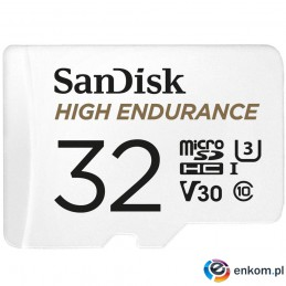 High Endurance microSDHC 32GB V30 z adapterem (rejestratory i monitoring)