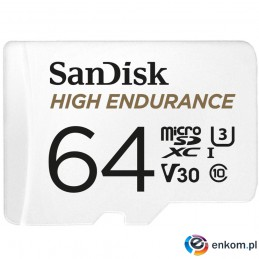High Endurance microSDXC 64GB V30 z adapterem (rejestratory i monitoring)