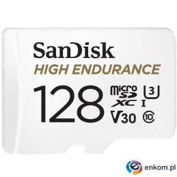 High Endurance microSDXC 128GB V30 z adapterem (rejestratory i monitoring)