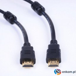 Kabel Impuls-PC HDMI-HDMI 1,8m gold/fer/blist Miedź(99,99%)