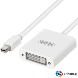 Adapter Unitek Y-6326WH mini Displayport-DVI