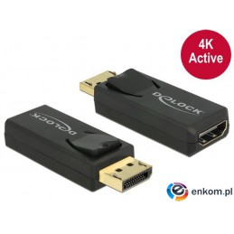 Adapter Delock DisplayPort 1.2- HDMI aktywny 4K black