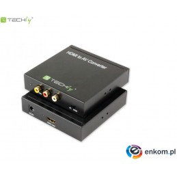 Konwerter/Adapter Techly HDMI/RCA Composite Video+Audio L/R