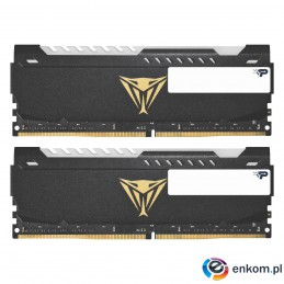 Pamięć DDR4 Patriot Viper STEEL RGB BLACK 16GB (2x8GB) 3200 MHz CL18 1,35V