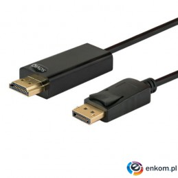 Kabel SAVIO CL-56 (HDMI M - DisplayPort M  1,5m  kolor czarny)