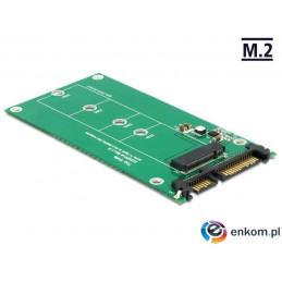 Adapter Delock SATA 22-pin (M) -  M.2 NGFF Key B 67-pin