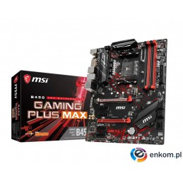 Płyta MSI B450 GAMING PLUS MAX/AMD B450M/DDR4/SATA3/M.2/USB3.1/PCIe3.0/AM4/ATX