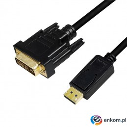 Kabel adapter LogiLink CV0132 DisplayPort 1.2 - DVI, 3m