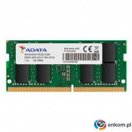 Pamięć DDR4 SODIMM ADATA Premier 8GB (1x8GB) 3200MHz CL22 1,2V Single