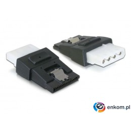 Adapter Delock SATA POWER (+CLIP)- Molex 4-PIN