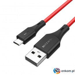 Kabel BlitzWolf BW-MC13 Red (USB 2.0 - Micro USB   1m  kolor czerwony)