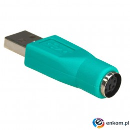 Adapter Akyga AK-AD-14 USB 2.0 A(M) - PS/2 (F)