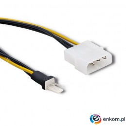 Adapter Qoltec do wentylatora Molex / 3 pin | 0.18m