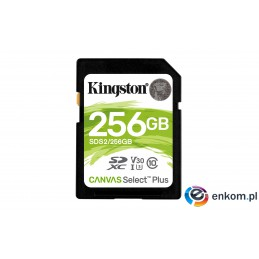 Karta pamięci Kingston Canvas Select Plus SDS2/256GB (256GB  Class U3, V30  Karta pamięci)