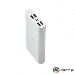 Powerbank Acme PB16S, 15000mAh, 4 porty, srebrny