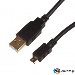 Kabel USB 2.0 Digitus HighSpeed Typ USB A/microB M/M czarny 1m