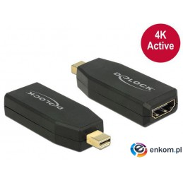 Adapter Delock DisplayPort MINI 1.2- HDMI aktywny 4K black