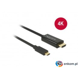 Kabel adapter Delock USB type-C(M) -  HDMI(M) 4K 30Hz 1m