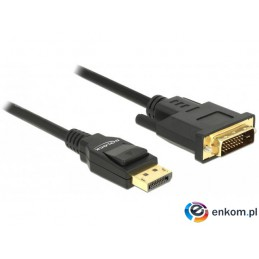 Kabel adapter Delock DisplayPort v1.2A - DVI-D (24+1) M/M 1m czarny Single Link