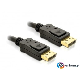 Kabel Delock DisplayPort M/M 1m gold