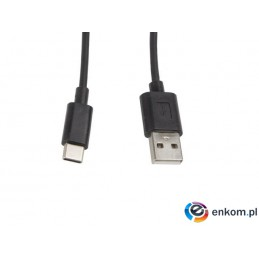 Kabel USB 2.0 Lanberg Type-C(M) - AM 1m czarny