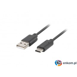 Kabel USB 2.0 Lanberg Type-C(M) - AM 1m czarny QC 3.0