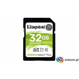 Karta pamięci Kingston Canvas Select Plus SDS2/32GB (32GB  Class U1, V10  Karta pamięci)
