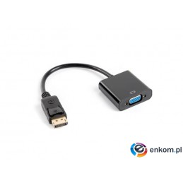 Kabel adapter Lanberg AD-0002-BK Displayport 1.1(M) -  VGA 15 Pin (F) czarny