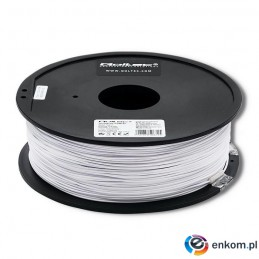 Filament Qoltec do druku 3D | PLA PRO | 1,75mm | 1kg | Cold white