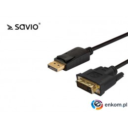 Kabel adapter Savio CL-122 DisplayPort do DVI 3m