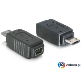 Adapter DELOCK 65063 (Mini USB F - Micro USB M  kolor czarny)